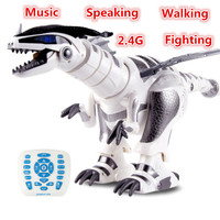 educational toy Remote Control Robot Dinosaur Toy Dancing Walking Speaking Fighting Singing Touch swing child Learning Toy gifts