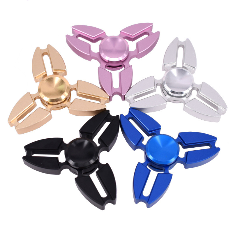 5 Color Metal Fidget Spinner EDC Tri Spinner Hand Spinner Adults Kid Toy For Fidget Autism