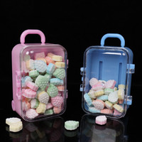 24pcs Plastic Wedding Candy Box Travel Bag Box For Candy Travel Wedding Decoration Baby Shower Birthday Party Gifts