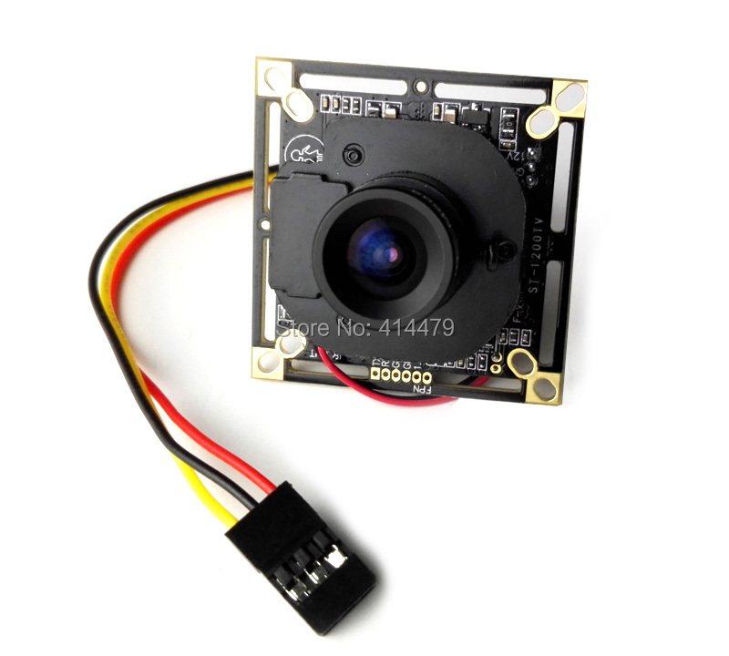 FPV 1200TVL CMOS 960H IR-CUT Filter Security Camera 3.6mm Lens Mini PCB Board Module