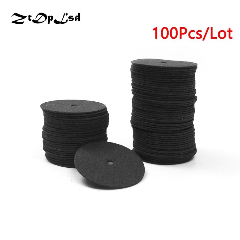 ZtDpLsd 100Pcs/lot Black 24mm Abrasive Disc Cutting Disc Reinforced Cut Off Grinding Wheel Rotary Blade Disc Tool Parts