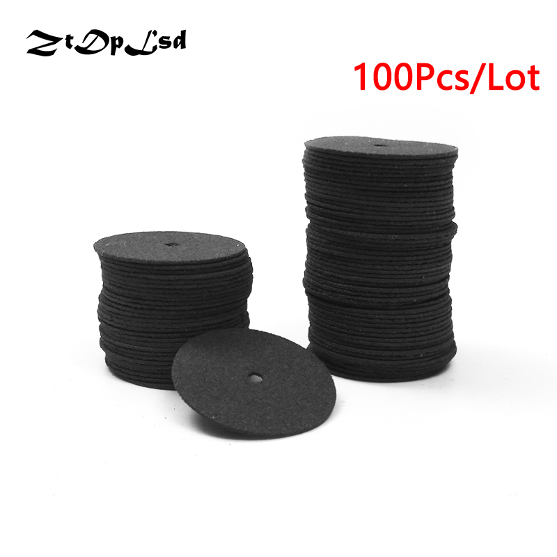 Ztdplsd 100 шт./лот черный 24 мм абразивный диск Резка диск усиленный отрезать Шлифовальный круг поворотный отвал диск Запчасти для инструментов