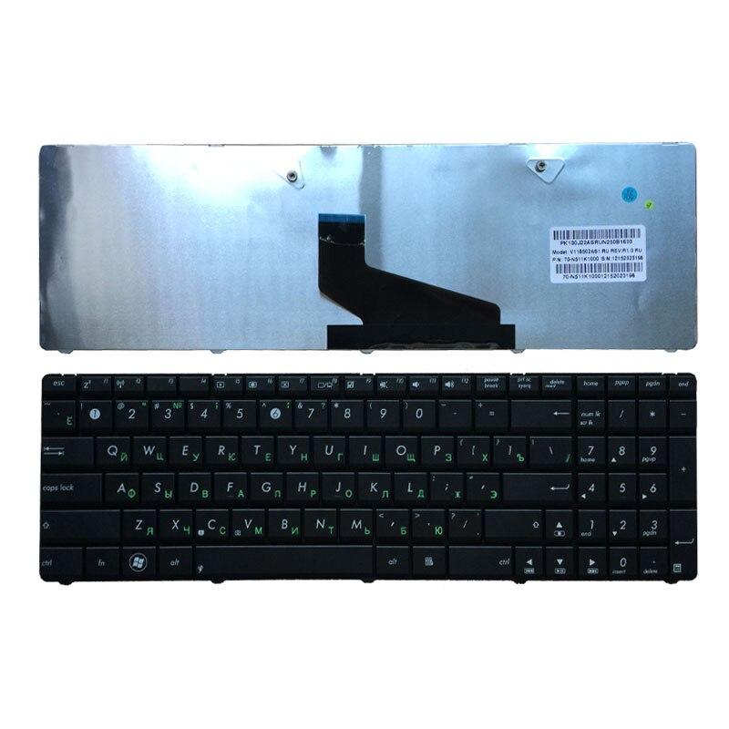Russische Tastatur für ASUS K53U K53T X53U K53Z K53B K53BR X53BY K53TA K53TK K73BY K73T K73B K73TA X73B X73CBE K53BY k73Y RU schwarz