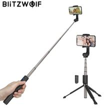 Купить с кэшбэком Instock BlitzWolf 3 in 1 Handheld Mini Foldable Extended Multi-angle Rotation Bluetooth Tripod Selfie Stick for Smartphones