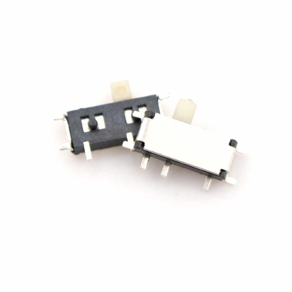 20PCS 7 Pin Mini Slide Switch On-OFF 2Position Micro Slide Toggle Switch Miniature Horizontal Slide Switch SMD