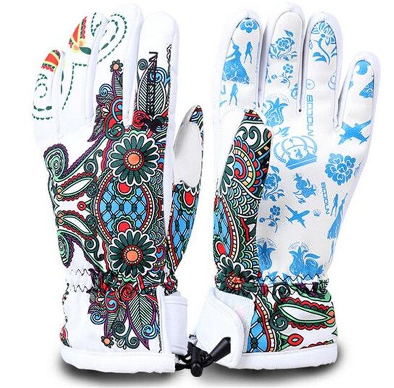 BOODUN Warm Ski Gloves Breathable Winter Snowboard Gloves Men Women Outdoor Sports Skiing Motorcycle Glove