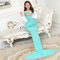 Plus Size Mermaid Blanket Pattern Crochet Mermaid Tail Knitted Cosplay Mermaid Tail Blanket Adult Child 10