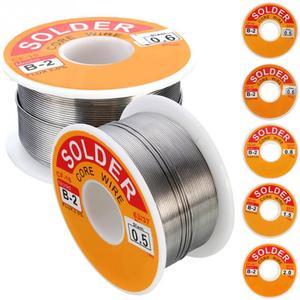Image 2 - 0.5/0.6/0.8/1.0/1.2/1.5/2mm 100g/roll 63/37 Tin lead alloy Rosin Core 2% Flux Reel Welding Line Solder Wire Clean Rosin Core 318