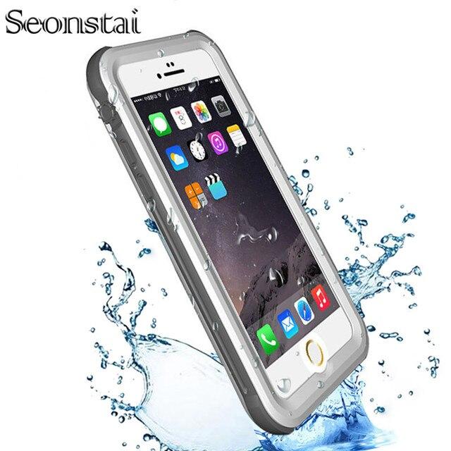 17b132e0066 Funda resistente al agua para iphone 6 s 6 Plus funda dura a prueba de agua