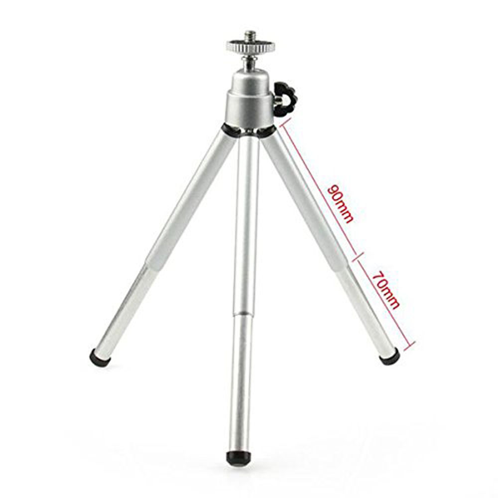 Image 2 - Kaliou Silver Color Camera Phone Professional Mini Tripod Travel Stand Holder for Gopro 7 6 5 4 3+ 2 1 Mobile Phone iPhone Samsu-in Live Tripods from Consumer Electronics