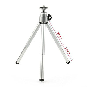 Image 2 - Kaliou Silver Color Camera Phone Professional Mini Tripod Travel Stand Holder for Gopro 7 6 5 4 3+ 2 1 Mobile Phone iPhone Samsu