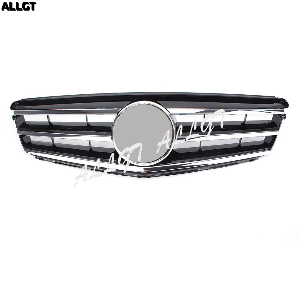 1PC Car Front Upper Grill Bumper Grille For For Mercedes Benz C-Class W204 2008 2009 2011 2012 2013 2014 for mercedes benz c class w204 2008 2009 2010 2011 2012 2013 right left hand drive black front rear floor mat carpets pad cover