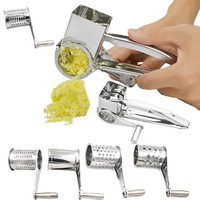 High Quality Stainless Steel Rotary Grater Cheese Chocolates Potato Radish Garlic Cooking Baking Tools Sale LS