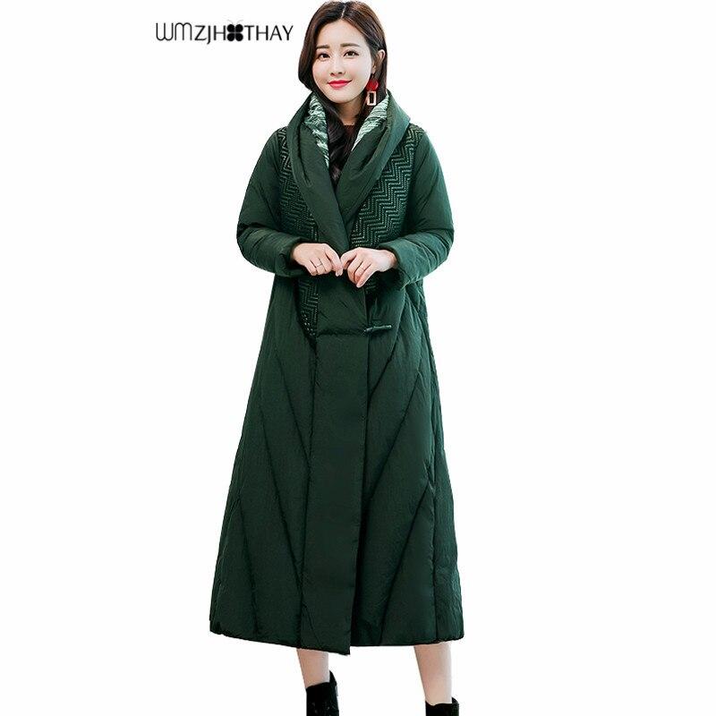 Abrigo Chaqueta Color Verde Elegante Mujer Gruesa Borgoña Moda De Negro Sólido Largo Parker Invierno Nueva Xftw1w Cálido Alto 2019 Casual Cuello Pft1xnw