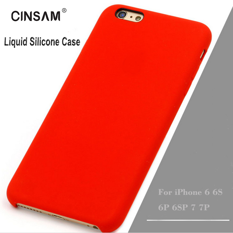 Cinsam Phone Case for iPhone 7/7Plus, liquid silicone rubber shell for iphone 6/6s/6p, Shockproof Cover w/Soft Microfiber Cloth  w iphone 7 case | *UPDATE* iPhone 7+ Case Collection with Links! 2017 Cinsam Phone font b Case b font for font b iPhone b font font b 7