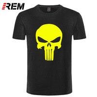 REM Punisher T Shirts Superhero Men T Shirt 2017 Summer Short Sleeve Cotton O-neck Casual T-shirts