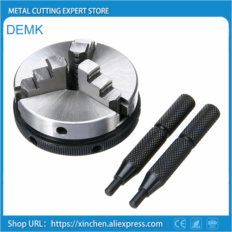 1pc Metal 3 Jaw Lathe Chuck 2 5 65mm Mini Chuck with 2pcs Lock Rods For