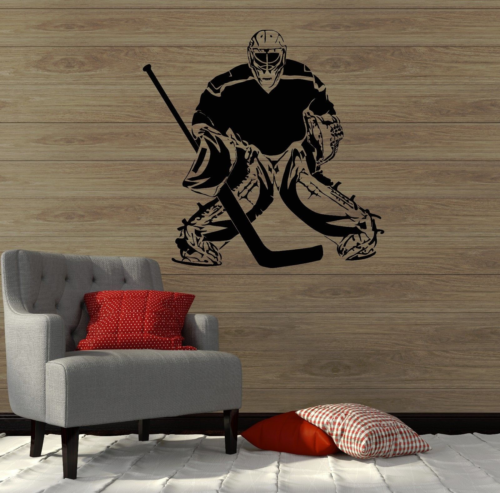 S001 2016 Fashion Removable Sport Wall Decals Hockey Sport ...