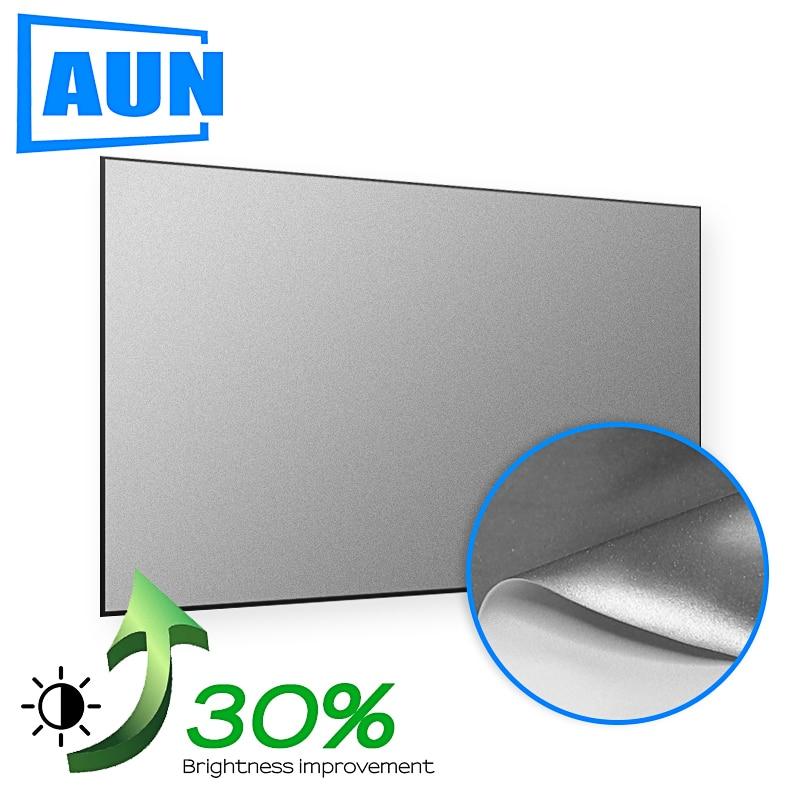 AUN Projector-Screen-Upgrade Proyector Light-Reflective-Fabric Mini Visual-Range 60inch