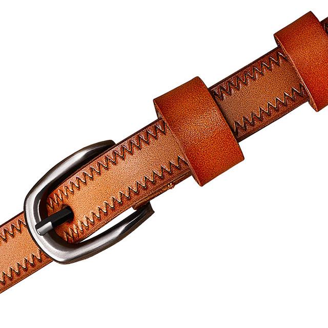 Women's Thin Genuine Leather Belt