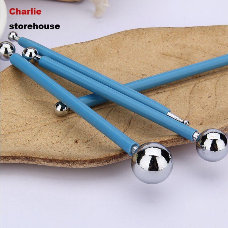 4PCS/Set Stainless Molding Ball Tool Sticks Fondant Cake Decorating Kit Flower Molds Kitchen Dessert Decoration Tools