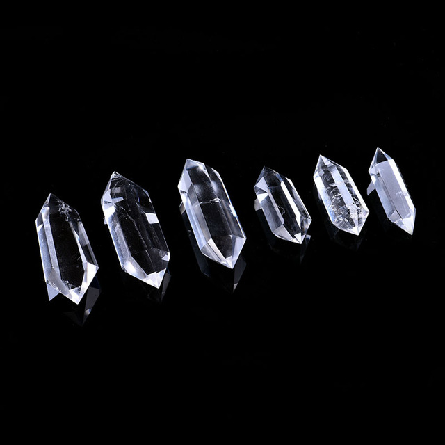 1PC natural white crystal crystal point mineral jewelry magic repair home home decoration study room decoration DIY gift 4