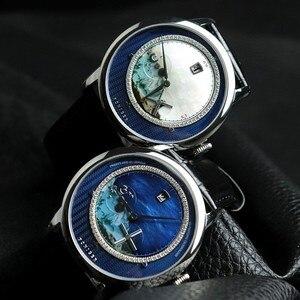 Image 3 - Zwitserland Top Luxe Merk PONIGER Mannen Horloge Japan Import Automatische Mechanische MOVT Horloges Landschap Dial Sapphire P723 4