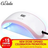gustala Rainbow 8 UV LED Nail Dryer Lamp for Gel Polish Hand Sensor 36W LCD Display 21 LED Lights Manicure Nail Art Machine