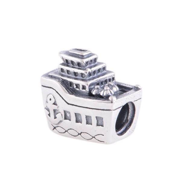 Pulseiras 100% grânulos de prata esterlina serve para pandora original navio viagem parafuso encantos diy jóias para as mulheres por atacado