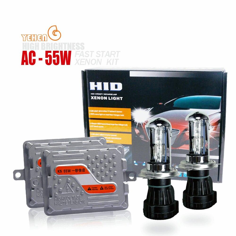 1 Set H4 bi-xenon HID kit démarrage rapide mince ballast 12 v 55 w K5 H1 H3 H7 H27 H11 9005 9006 881 D2S hid XENON lampe voiture phare ampoule