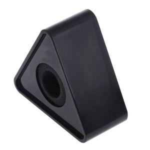 Image 5 - OOTDTY ABS plastica microfono intervista triangolare Logo Flag Station nero/bianco durevole