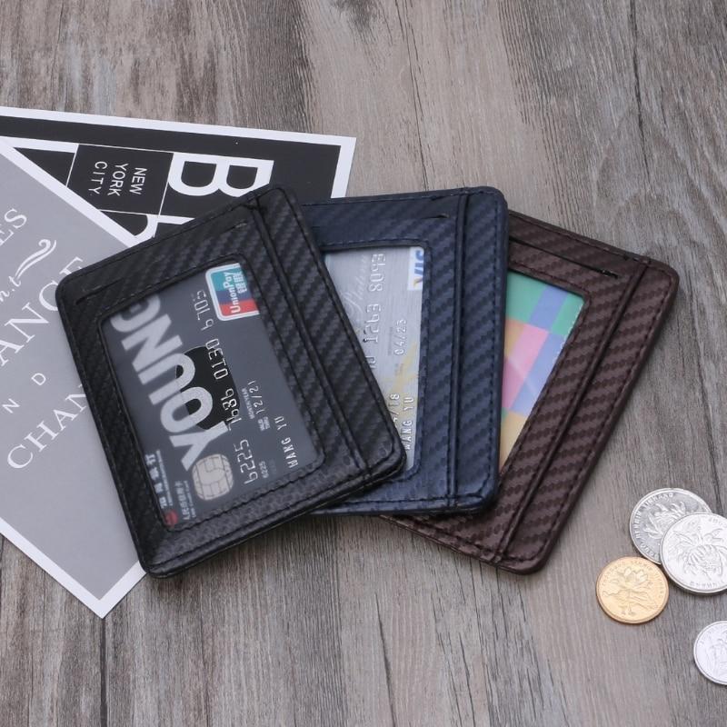 thinkthendo simple card holder slim bank credit card id