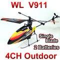 Frete grátis wltoys v911 4ch 2.4 ghz radio control helicopter rtf única lâmina rc gyro fswb perfeito mini wltoys