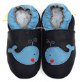 Baby Shoes Dark Blue Leather Baby Moccasins Animal Soft Sole Infant Shoes Boy Slipper Toddler Kids Shoes Non-slip Baby Footwear