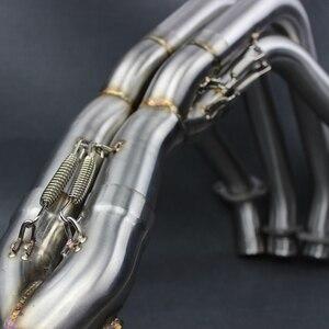 Z1000 2010-2016 мотоцикл Выхлопная труба глушитель Модифицированная нержавеющая сталь Передняя труба полная система для Kawasaki Z1000 2010-1016