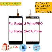 ORIGINAL pour Xiaomi Redmi 2 2A PRIME PRO écran tactile numériseur écran tactile capteur avant verre extérieur Redmi2 écran tactile pas d'affichage à cristaux liquides