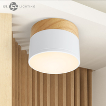 ISL светодио дный потолок пятно света для Потолочные светильники гирлянды светодио дный 5 Вт Деревянный светильник прожектор современная деревянная гостиная свет