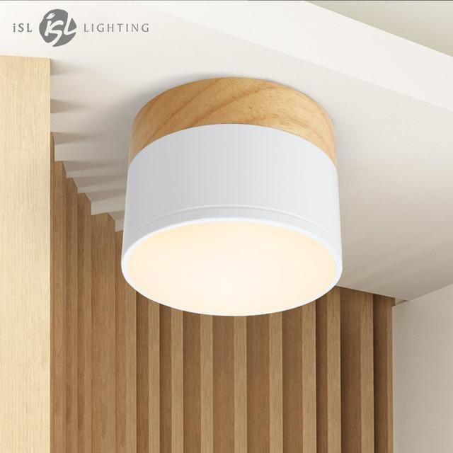 Isl Led Ceiling Spotlights For Lamps Lighting Fixtures Garland 5w Wood Downlight Spotlight Modern