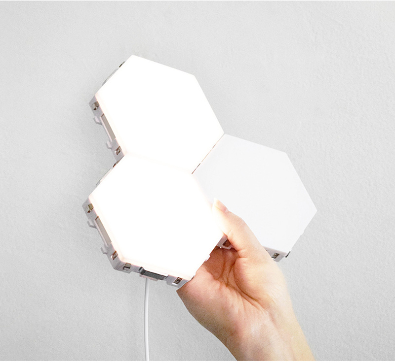 quantum lâmpada led hexagonal lâmpadas