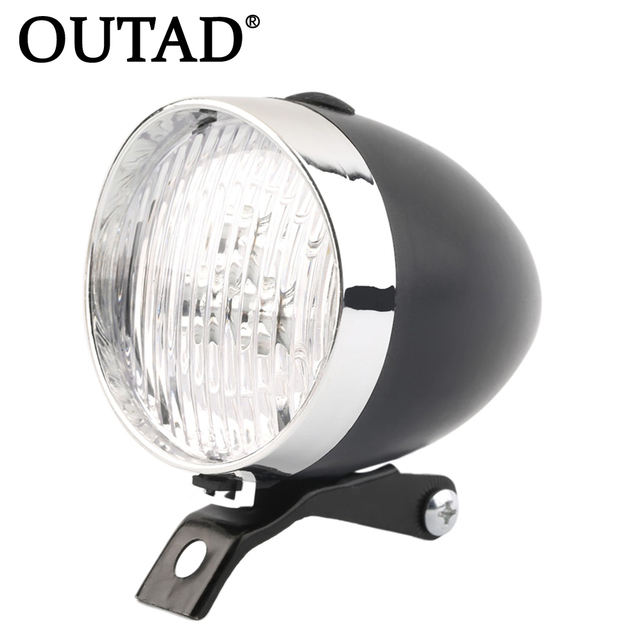 9d61dbe80cc OUTAD 3 LED Vintage Flashlight Lamp Bicycle Headlight Bike Front Light High  Quality Retro Headlight Vintage Flashlight Lamp