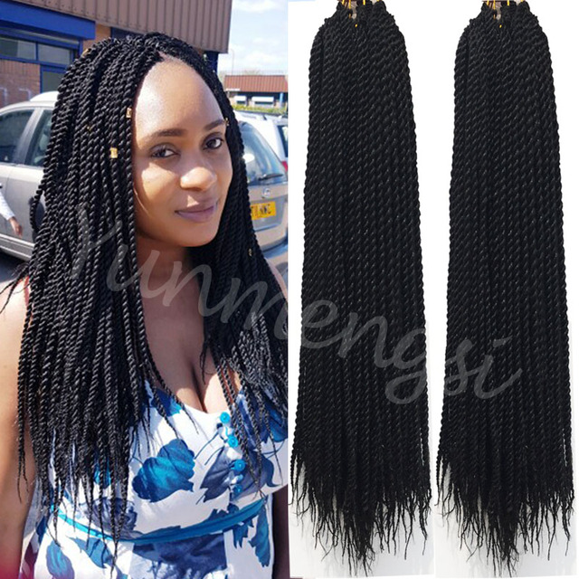Crochet Braids Kinky Twists : 18inch Havana twists hair crochet braids afro kinky bulk braiding hair ...
