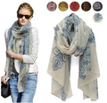Free Shipping !2016! Temperament Excellent, Blue and White Porcelain Style Thin Section the Silk Floss Women Scarf Shawl.