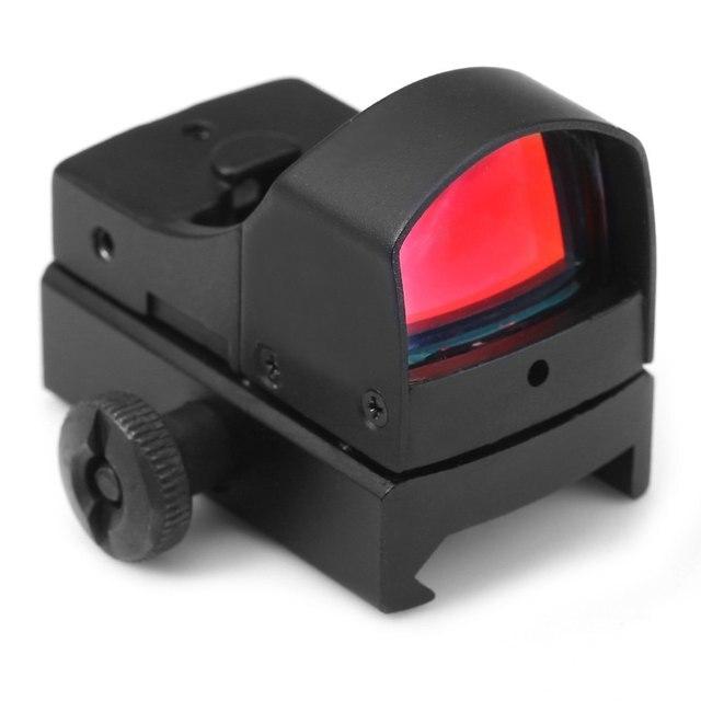 Réglable Luminosité Tactique Laser de Tir Mini Holographique Vue Lumière Fusil Optique Portée avec Rouge Vert Dot