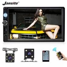 "Jansite 7 ""FHD 1080P רכב רדיו MP5 נגן דיגיטלי מסך מגע Bluetooth מראה קישור שני דין רכב autoradio תמיכה גיבוי מצלמה"