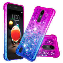 Gradient Quicksand Prevention of falls Cases For LG K8 2018 (The American) Fashion Girl Phone Cover