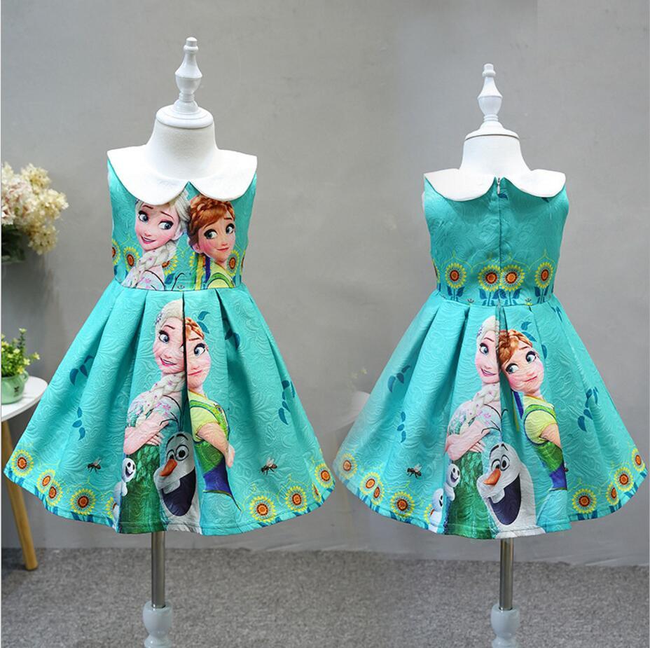 Good quality hot 2018 new Girls Summer elsa dresses Cute Princess ...