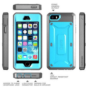 Image 3 - Supcase for iphone se 5 5 s 케이스 ub pro 전신 견고한 홀스터 클립 보호 커버 내장 스크린 보호 케이스 포함