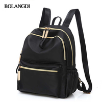 2017 Casual Oxford Backpack Women Black Waterproof Nylon School Bags For Teenage Girls High Quality Fashion