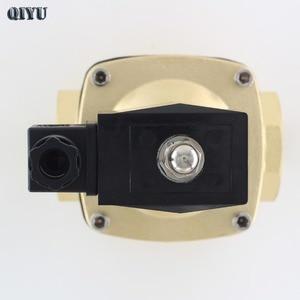 Image 4 - AC110V/220 V/380 V, DC12V/24 V, normalnie zamknięty zawór elektromagnetyczny wody, mosiężne zawory powietrzne DN10 DN15 DN20 DN25 DN32 DN40 DN50