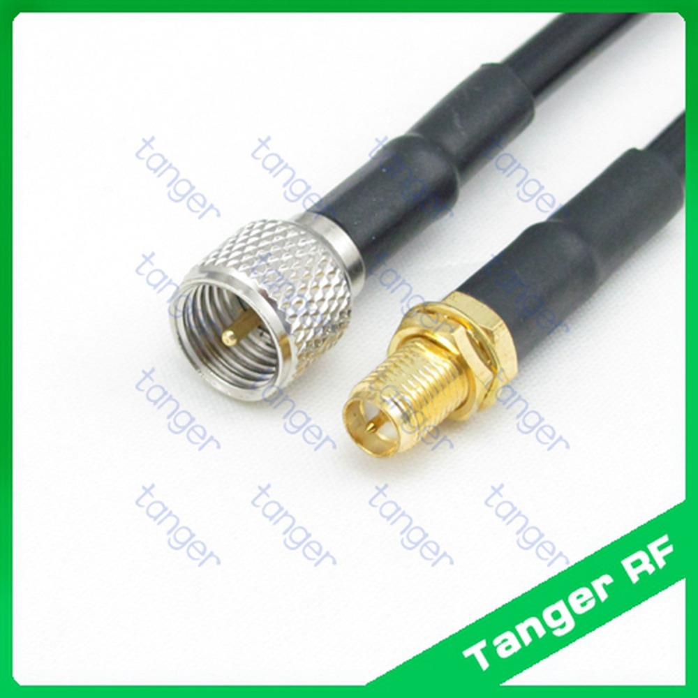 High quality MiniHot UHF male plug PL259 SL16 to RP-SMA  female connector  RF RG58 Pigtail Jumper Coaxial Cable 3feet 100cm new dvb t rf coaxial to mcx tv antenna connector black 22cm cable